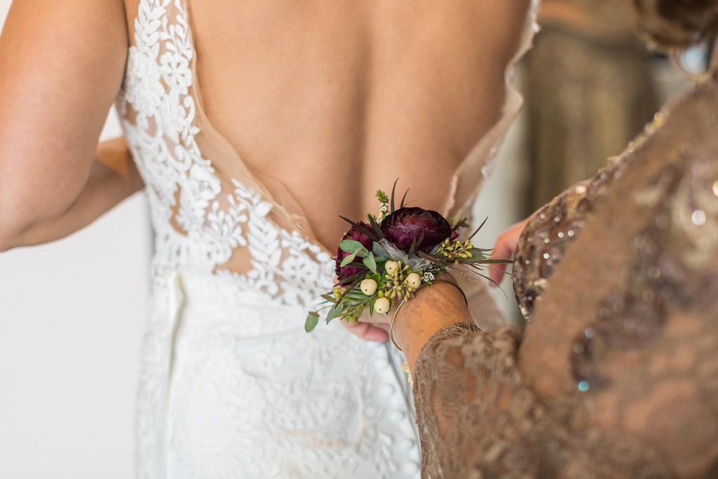 mothers corsage in a wedding
