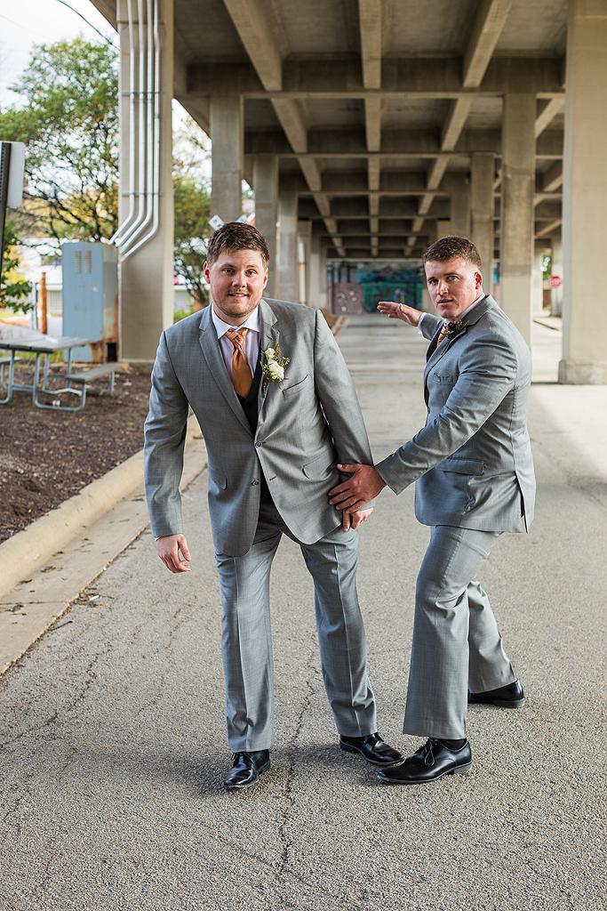 groom getting spanked