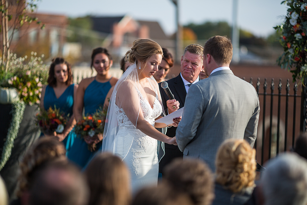 bride saying her vows