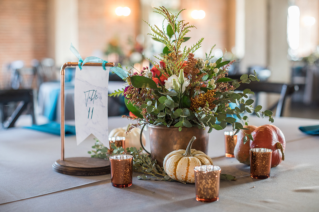 copper wedding details at a wedding at the standard in rockford illinois