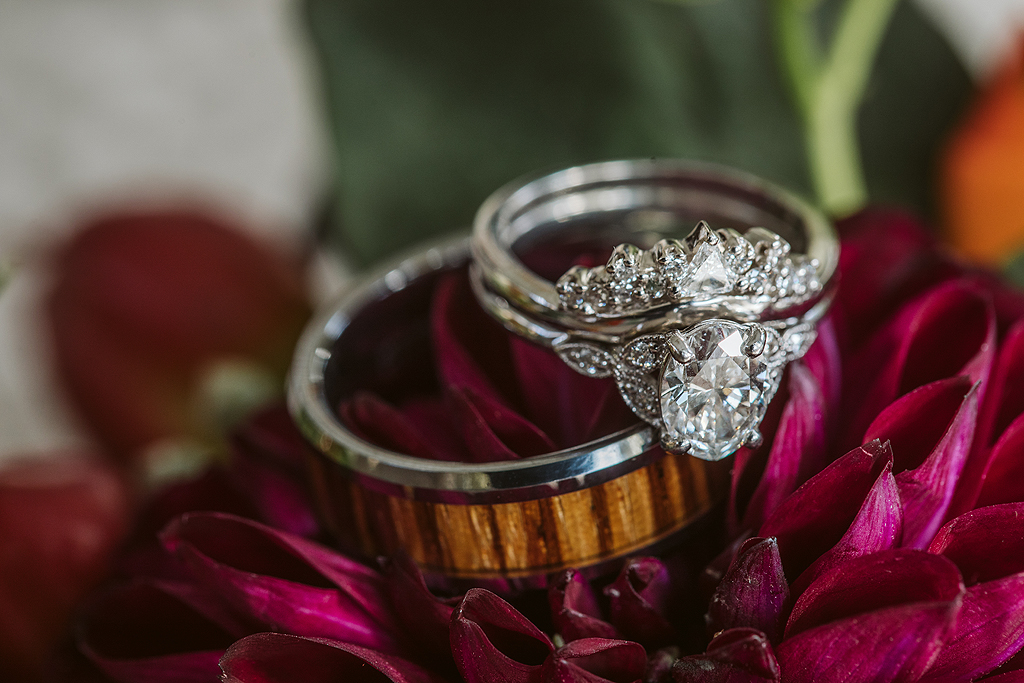 bride and groom rings