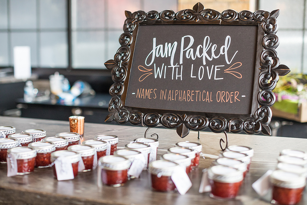 wedding favor jam