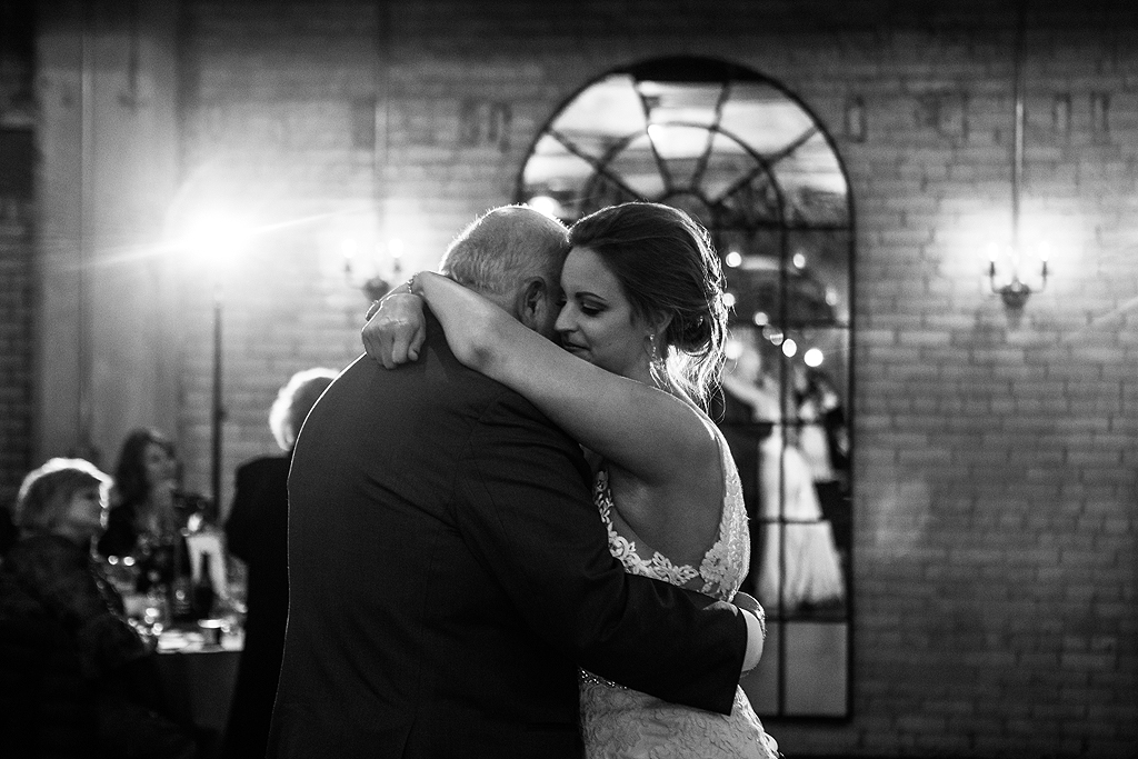 bride dancing with her father at the standard in rockford illinois