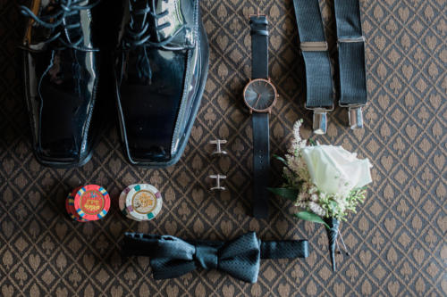 Grooms wedding details