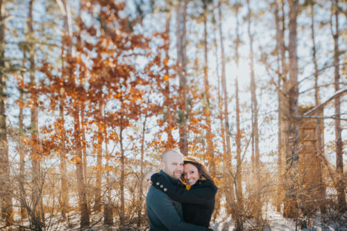 winter ENGAGEMENT PHOTOGRAPHY SESSION