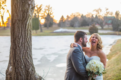 bride laughing at the funniest groom ever