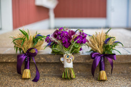 bridal bouquets made out of wheat