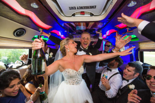 cray wedding on the party bus