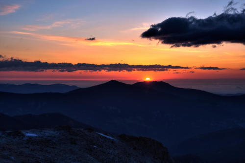 Mt. Evans Sunrise HDR - 01