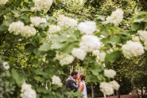 bride and groom kissing at cd&me in frankfort illinois
