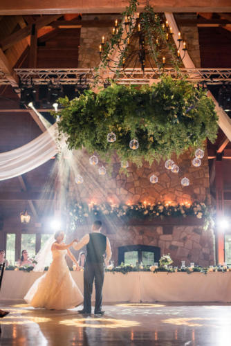 first dance as a couple for bride and groom