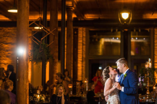 first dance for newly wed couple at the pritzlaf in Milwaukee Wisconsin