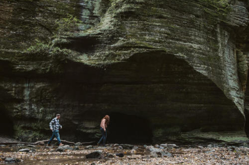 adventure engagement photography session at matthesion state park